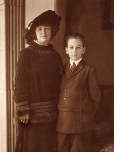 John Evans and his mother, Mabel Dodge