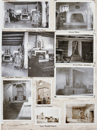 Early Photos of The Mabel Dodge Luhan House
