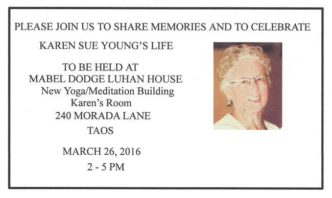 Karen Young Memorial Announcement 3-26-16 for blog
