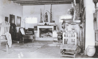 Living room, Big House, Taos, New Mexico. Mabel Dodge Luhan Papers, Beinecke Library, Yale University