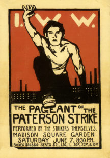 Robert Edmond Jones, The Pageant of the Paterson Strike, Madison Square Garden, NY, June 7, 1913, program cover. Taminent Library and Robert F. Wagner Labor Archives, New York University
