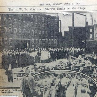 Paterson Strike Pageant, New York Sun, June 8, 1913. Mabel Dodge Luhan Papers, Beinecke Library, Yale University