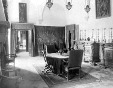 Dining Room, Villa Curonia, Florence, Italy. Mabel Dodge Luhan Papers, Beinecke Library, Yale University