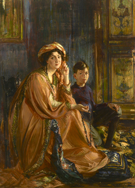 Portraint of Mabel Dodge Luhan and Son, Albright-Knox Art Gallery Fine Art Collection.